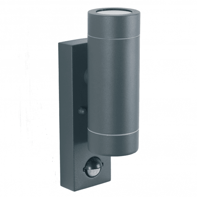Click to view product details and reviews for Dark Grey Outdoor Sensor Dual Wall Light.