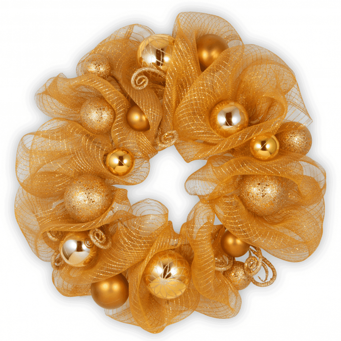 Decorative Collection 24 Gold Ribbon Wreath