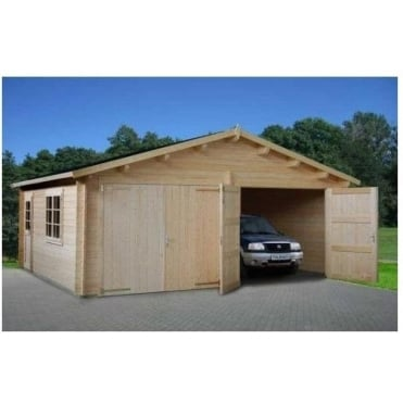 Double Garage - Natural Wood Finish