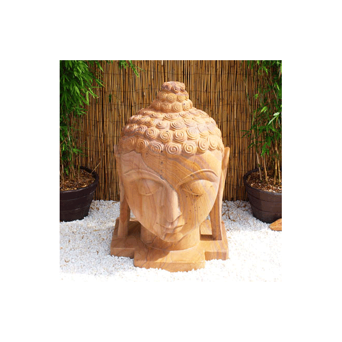 Click to view product details and reviews for Eastern Stone Buddha Head.