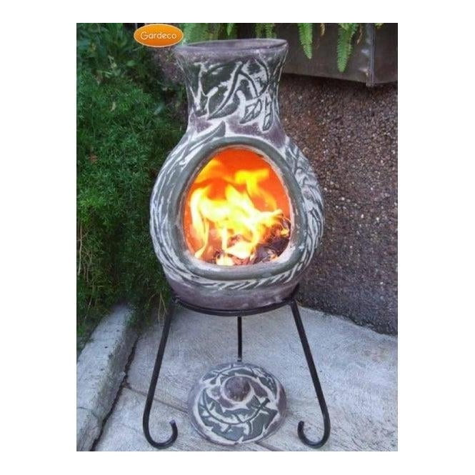 Click to view product details and reviews for Elements Chiminea Earth Green Brown Finish.