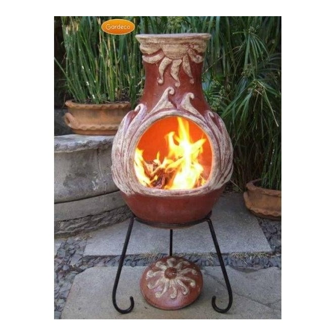 Click to view product details and reviews for Elements Chiminea Fire Natural Unglazed Terracotta.