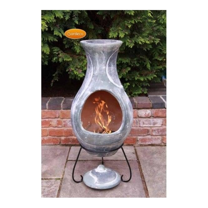Elements Chiminea Water Blue Green Finish