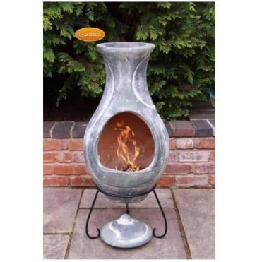 Elements Chiminea WATER Blue- Green Finish