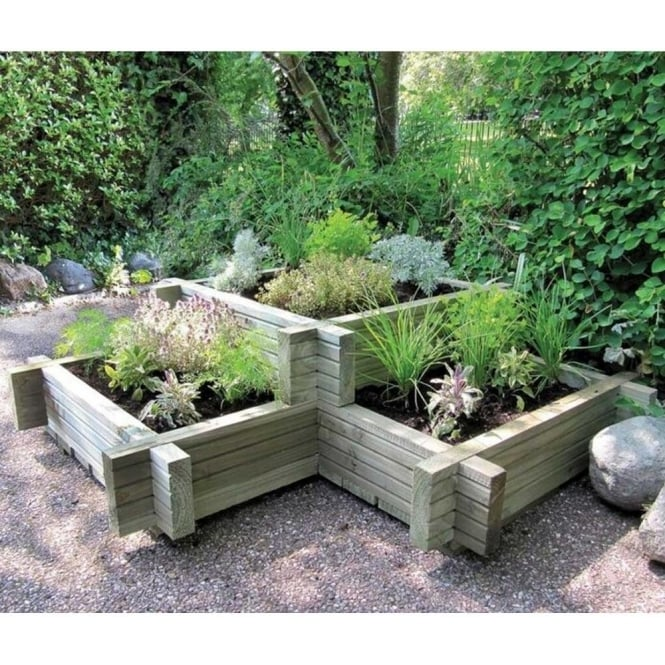 Click to view product details and reviews for Elite Corner Wooden Planter.