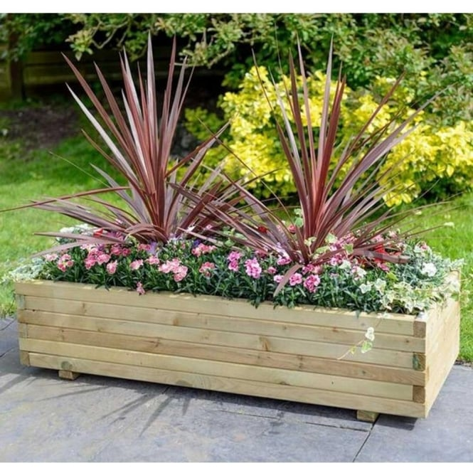 Click to view product details and reviews for Elite Rectangular Wooden Planter.