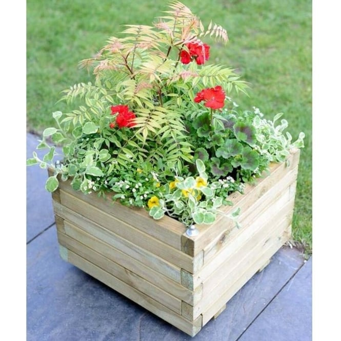 Click to view product details and reviews for Elite Square Wooden Planter.