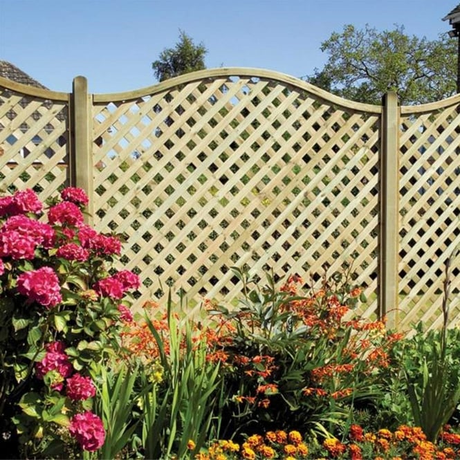 Click to view product details and reviews for Elite St Meloir Bow Top Lattice Trellis.