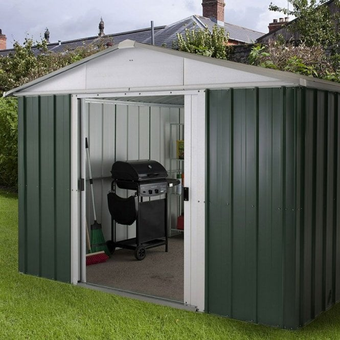 Emerald Deluxe Metal Shed With Floor Support Kit 10 X 8