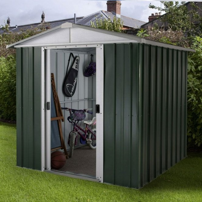 Emerald Deluxe Metal Shed With Floor Support Kit 6 X 6
