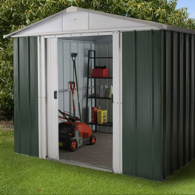 Emerald Deluxe Metal Shed With Floor Support Kit 8 X 9