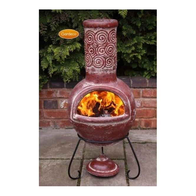 Click to view product details and reviews for Espiral Large Mexican Clay Chiminea.