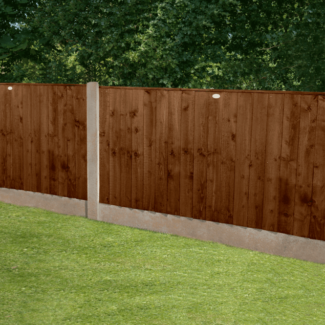 Click to view product details and reviews for Featheredge Brown Fence Panel 6 X 3.