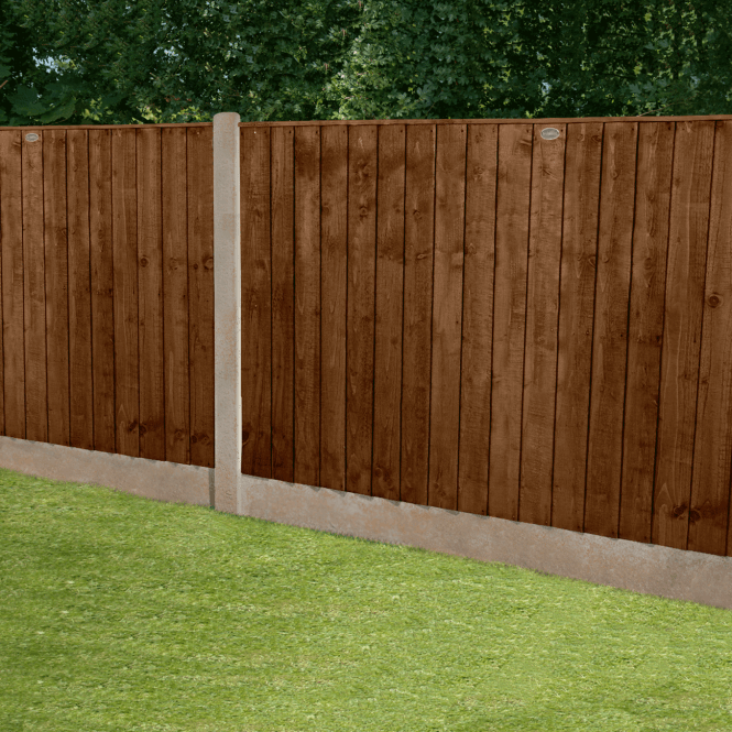 Click to view product details and reviews for Featheredge Brown Fence Panel 6 X 4.