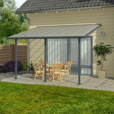 Feria 3m Width Patio Cover Grey - 7 Size Options