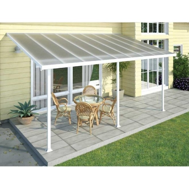 Feria 3m Width Patio Cover White   7 Size Options