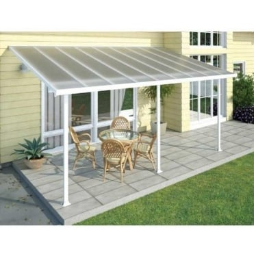 Feria 3m Width Patio Cover White - 7 Size Options