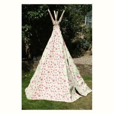 Flower and Butterfly Wigwam Tent
