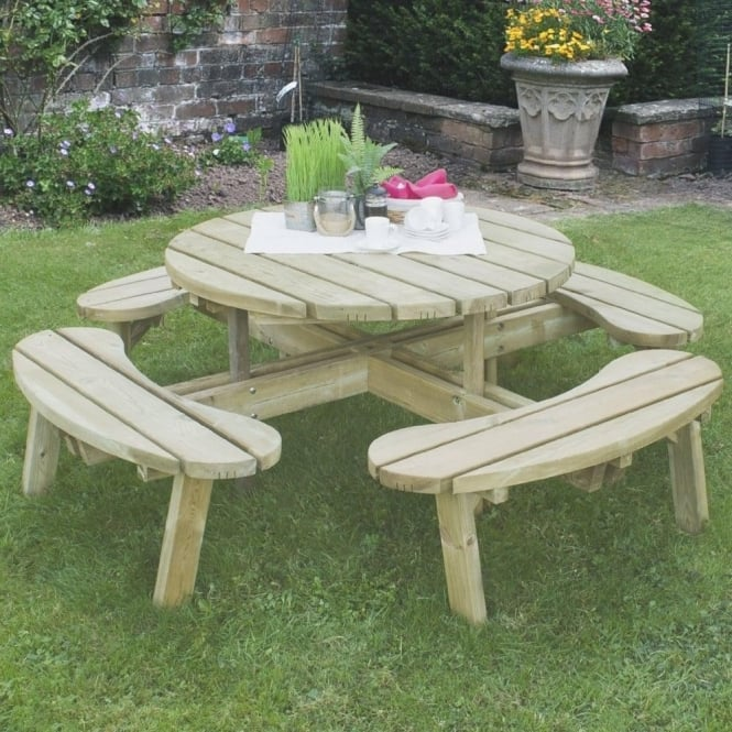 Click to view product details and reviews for Forest Garden Circular Picnic Table.