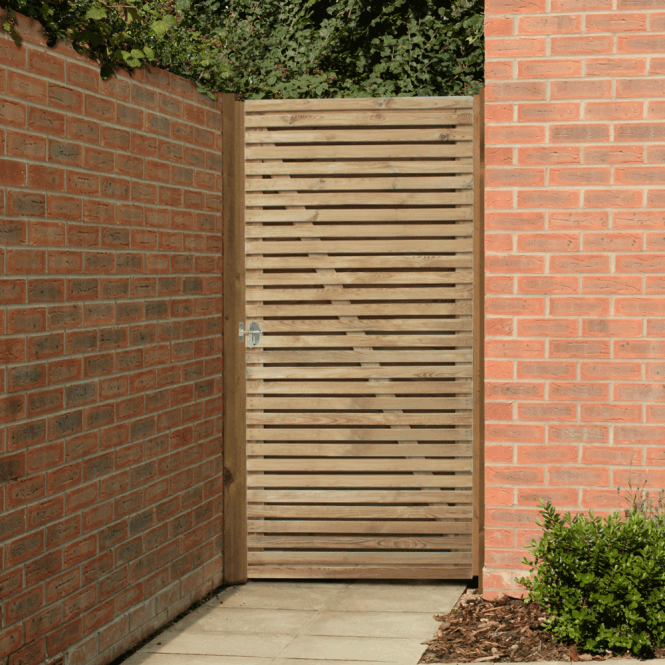 Click to view product details and reviews for Forest Garden Contemporary Double Slatted Gate.