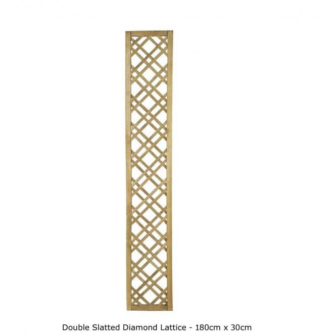 Click to view product details and reviews for Forest Garden Double Slatted Diamond Lattice.