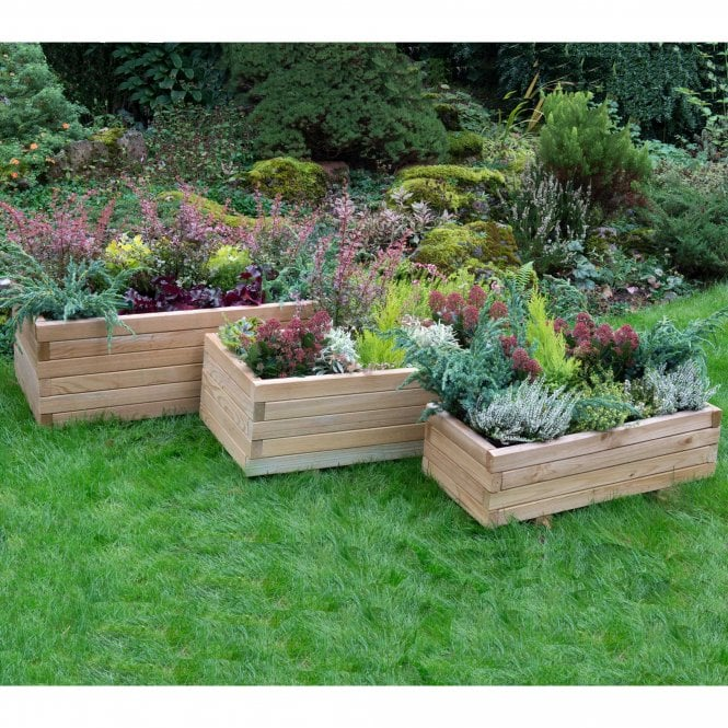 Click to view product details and reviews for Forest Garden Durham Rectangular Planter Set Of 3.