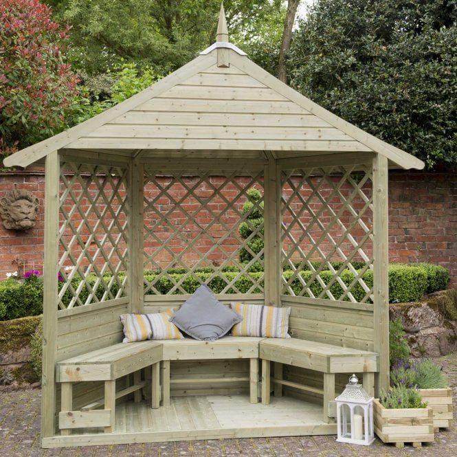 Click to view product details and reviews for Forest Garden Half Burford Arbour.