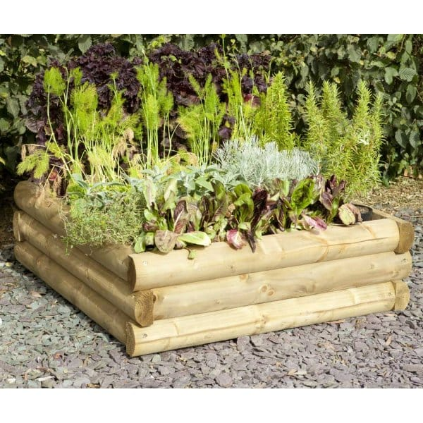 Forest Garden Half Round Raised Plant Bed FSC Approved