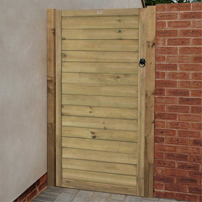 Forest Garden Horizontal Tongue And Groove Gate 6ft 183m High