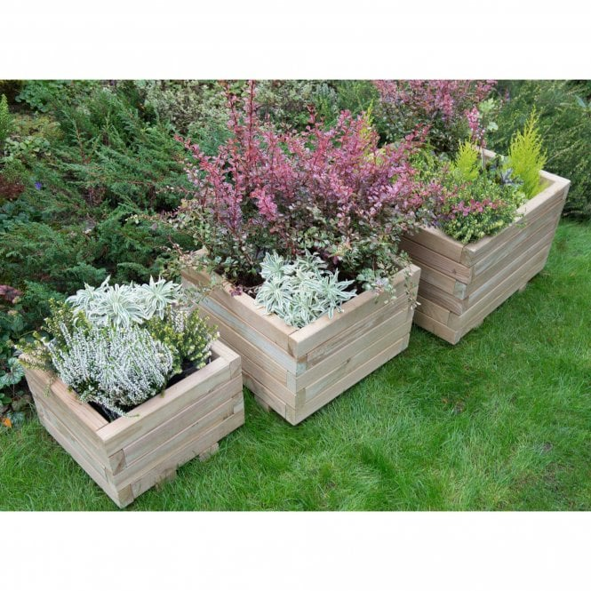 Click to view product details and reviews for Forest Garden Kendal Square Planter Set Of 3.