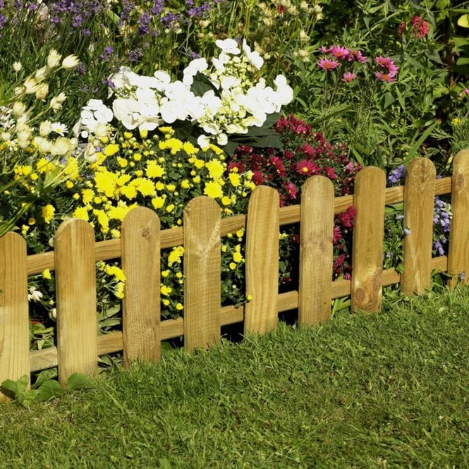 Click to view product details and reviews for Forest Garden Picket Fence Edging.