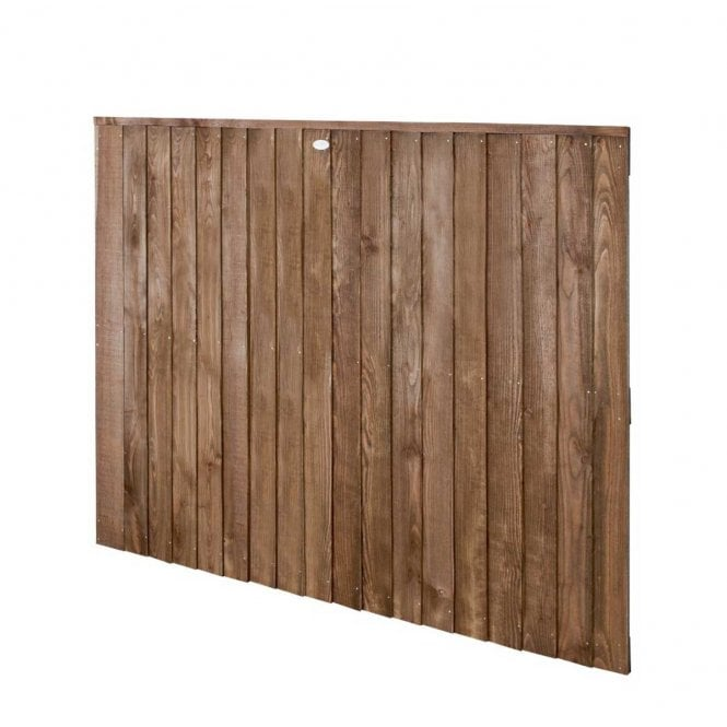 Click to view product details and reviews for Forest Garden Pressure Treated Featheredge Fence Panel Dark Brown.