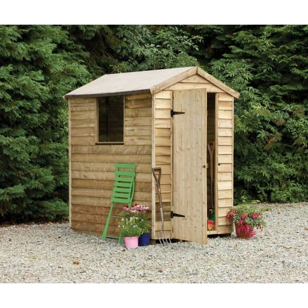 Pressure Treated Garden Shed 6ft X 4ft / Lean To Log Store