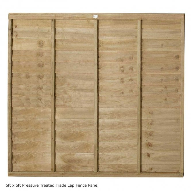 Click to view product details and reviews for Forest Garden Pressure Treated Trade Lap Fence Panel.