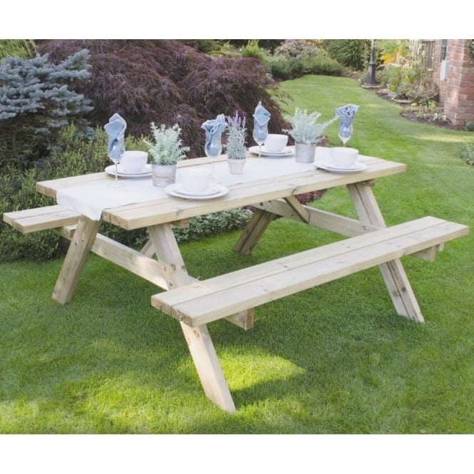 Click to view product details and reviews for Forest Garden Rectangular Picnic Table Large.