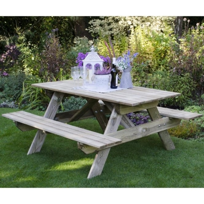Click to view product details and reviews for Forest Garden Rectangular Picnic Table Small.