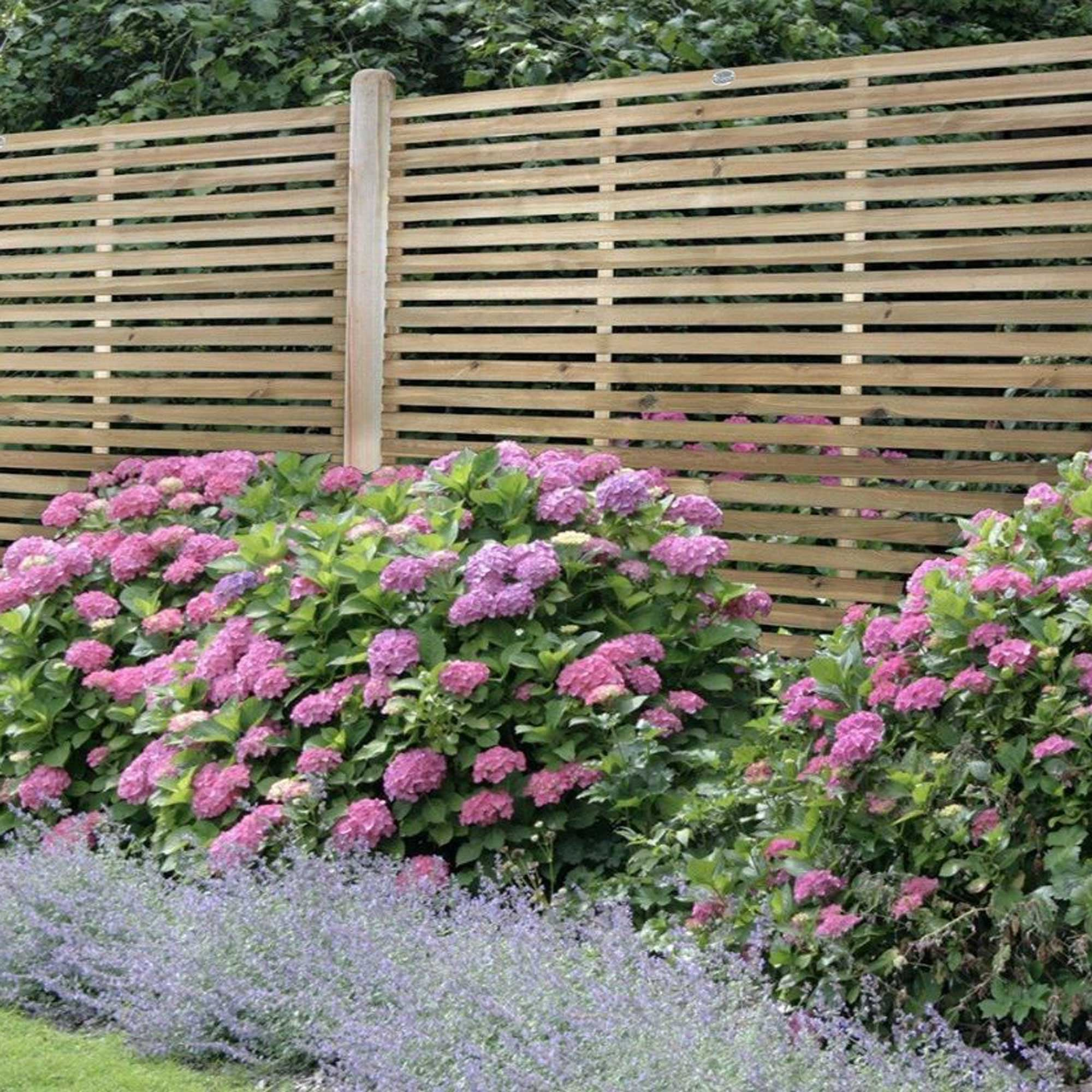 Forest Garden Contemporary Slatted 1 8m Fence Panel