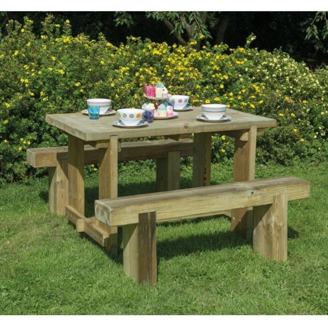 Click to view product details and reviews for Forest Garden Sleeper Bench And Refectory Table Set.
