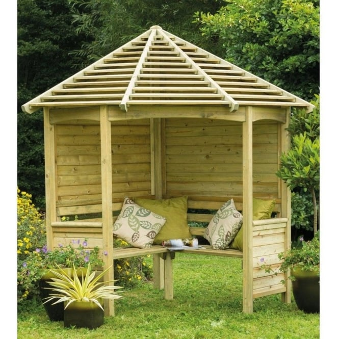 Click to view product details and reviews for Forest Garden Venetian Corner Arbour.