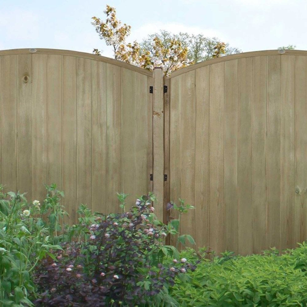 Forest Garden Vertical Domed Top T&G Fence Panel