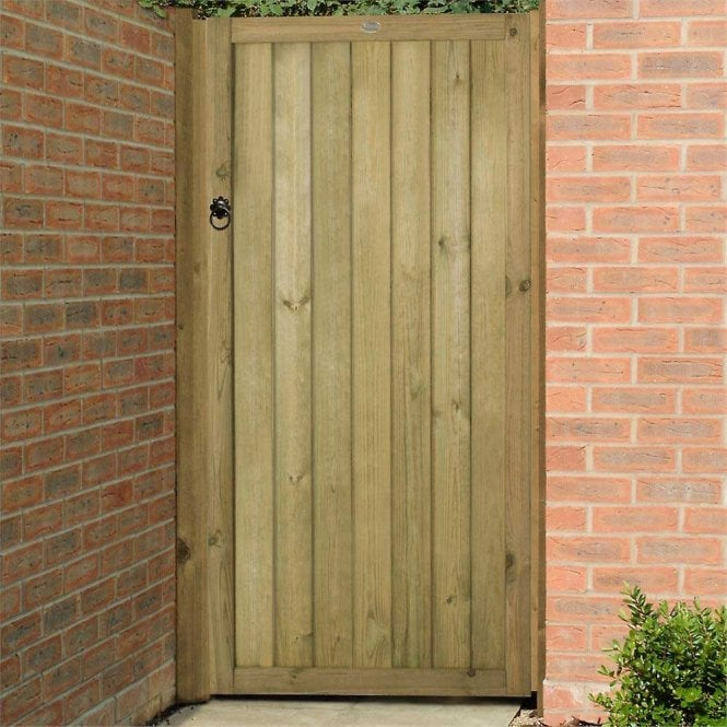 Forest Garden Vertical Tongue And Groove Gate 6ft 183m High