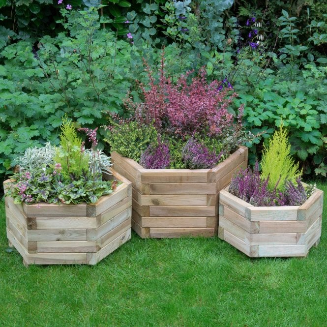 Click to view product details and reviews for Forest Garden York Hexagonal Planter Set Of 3.