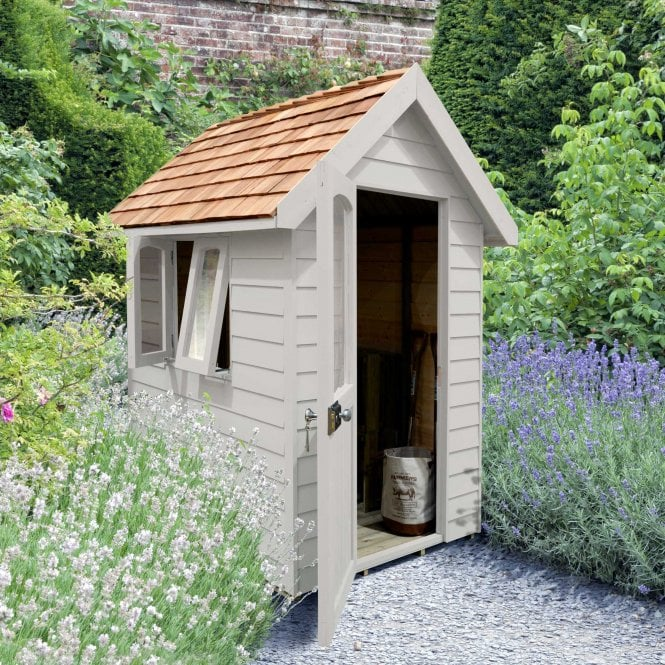 Click to view product details and reviews for Forest Retreat Shed 6x4 Pebble Grey Installed.