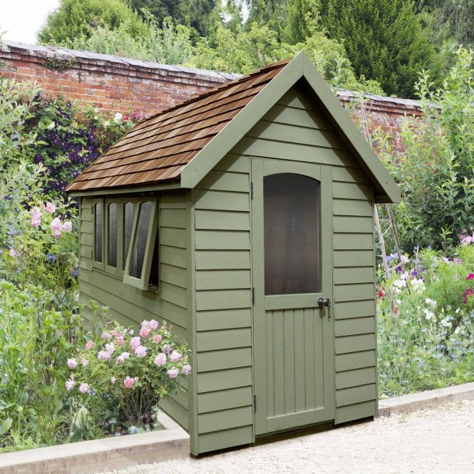 Click to view product details and reviews for Forest Retreat Shed 8x5 Moss Green Installed.
