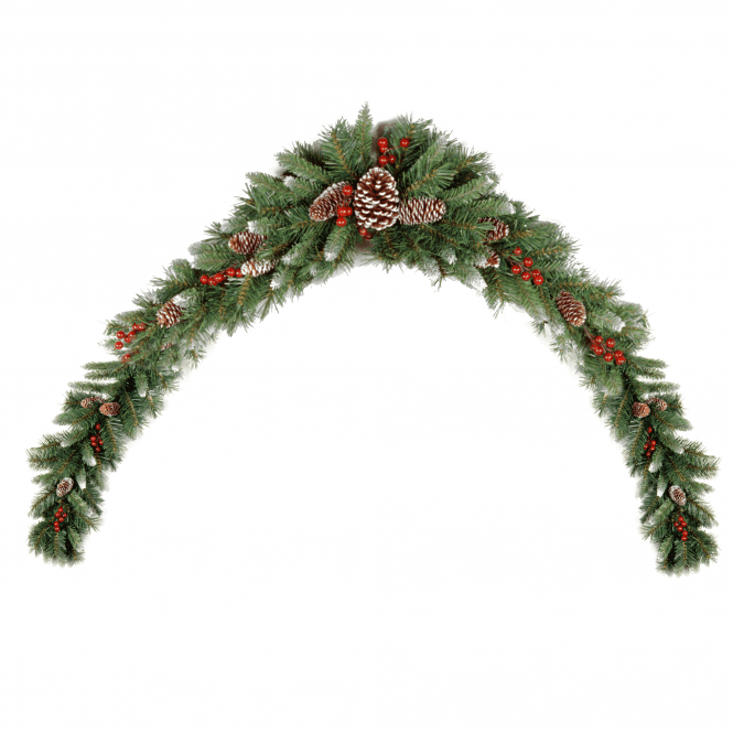 Click to view product details and reviews for Frosted Berry 6ft Mantel Swag.