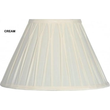 Garbo Pinched Pleat Silk Effect Lamp Shade 50cm
