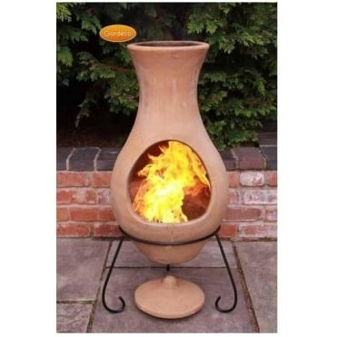 Elements Chiminea AIR - Natural Unglazed Terracotta