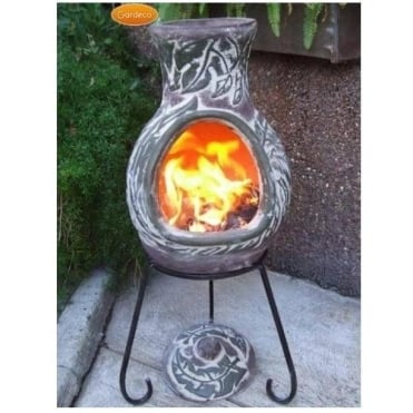 Elements Chiminea EARTH Green Brown Finish