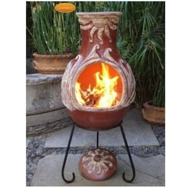 Elements Chiminea FIRE Natural Unglazed Terracotta