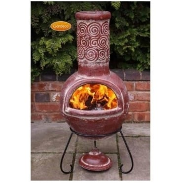 Espiral Large Mexican Clay Chiminea